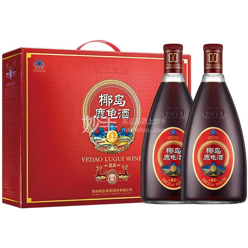 椰岛鹿龟酒500ml*2瓶